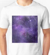 Amethyst watercolor galaxy  Unisex T-Shirt