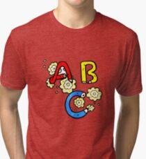cartoon ABC letters Tri-blend T-Shirt