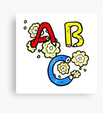 cartoon ABC letters Canvas Print