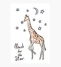 Reach for the star Giraffe Photographic Print