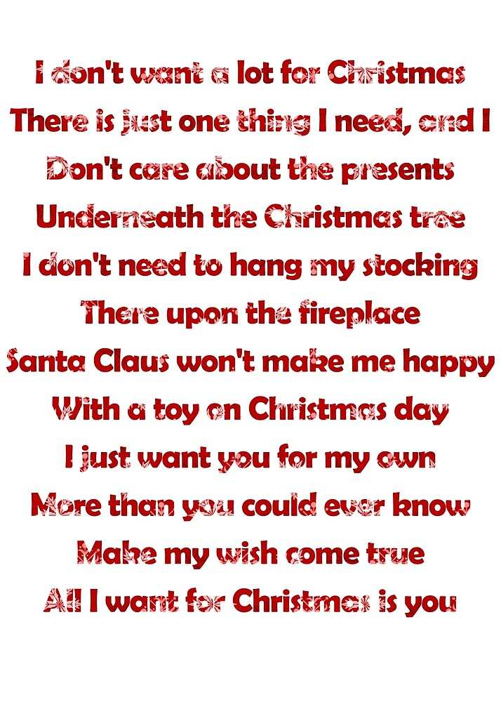 Mariah Carey All I Want For Christmas Is You Lyrics.Mariah Carey All I Want For Christmas Is You Lyrics By