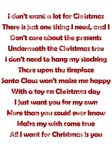 mariah carey all i want for christmas is you lyrics by laura downing - All I Want For Christmas Is You Mariah Carey Lyrics