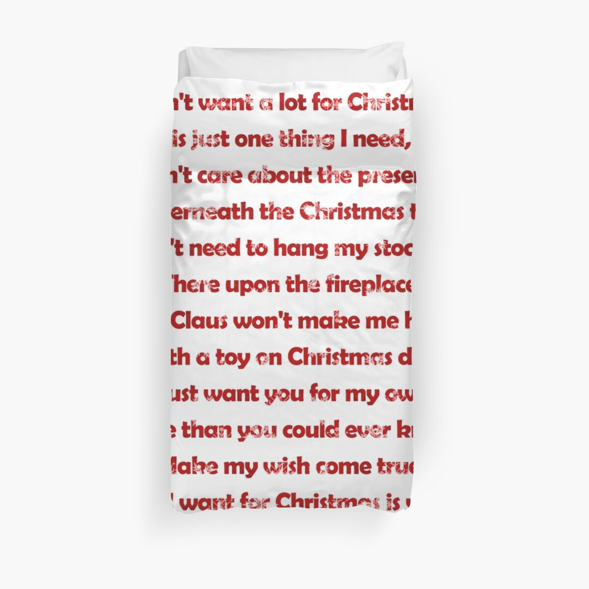 Mariah Carey All I Want For Christmas Is You Lyrics.Mariah Carey All I Want For Christmas Is You Lyrics Duvet Cover By Laura Downing