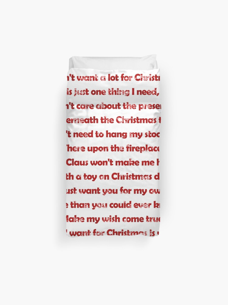 Lyrics All I Want For Christmas.Mariah Carey All I Want For Christmas Is You Lyrics Duvet Cover