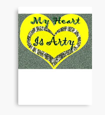 My Heart is Arty Canvas Print