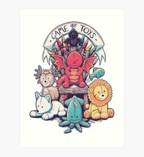 Game of Thrones - Game of Toys Art Print