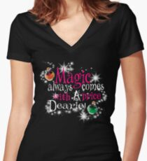 All Magic Comes With a Price Dearie Once Upon a Time  Women's Fitted V-Neck T-Shirt