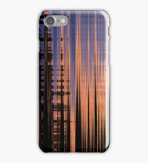Changing abstract orange brown blue pattern iPhone Case/Skin