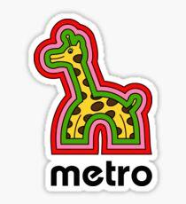 Metro Giraffe Sticker