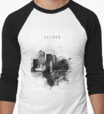 Denver black and white Men's Baseball ¾ T-Shirt