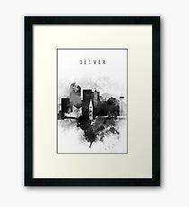 Denver black and white Framed Print