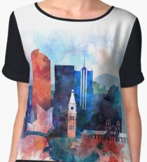 Denver Colorado skyline Chiffon Top