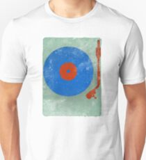 Grunge Vinyl Record Turntable Unisex T-Shirt