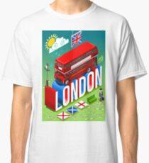 London-Bus-Postcard-Isometric Classic T-Shirt