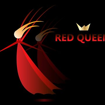 Red queen, women in red, god save queen by archiba