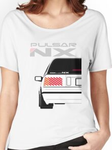 Nissan NX Pulsar Sportback - White Women's Relaxed Fit T-Shirt