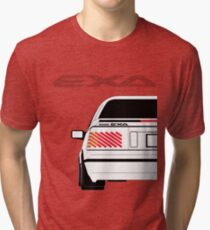 Nissan Exa Coupe - White Tri-blend T-Shirt