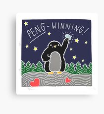 Peng-winning! Canvas Print