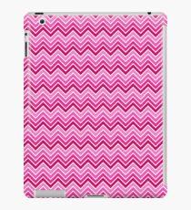 Bright Pink Ombre Chevron Pattern iPad Case/Skin