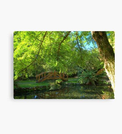 A stroll in the gardens Canvas Print