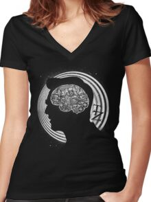 A Dimension of Mind Women's Fitted V-Neck T-Shirt