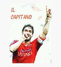 "Francesco Totti ""IL Capitano"" ROMA Photographic Print"