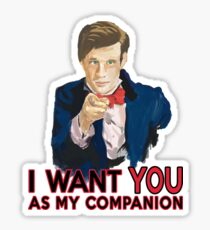 Doctor Who Uncle Sam Sticker