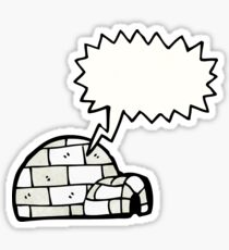 cartoon igloo Sticker