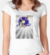 Music Collage Rays Women's Fitted Scoop T-Shirt