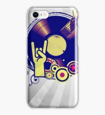 Music Collage Rays iPhone Case/Skin
