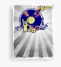 Music Collage Rays Canvas Print