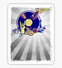 Music Collage Rays Sticker