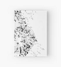 Cuaderno de tapa dura Bailando el gran dibujo de música de clave de sol