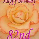 Happy 82nd Birthday Flower by martinspixs