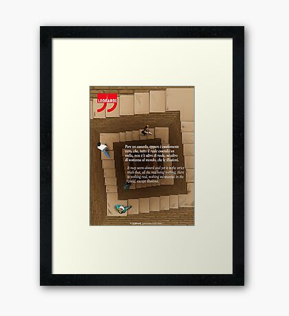 Giacomo Leopardi Quote Framed Print