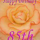 Happy 85th Birthday Flower by martinspixs