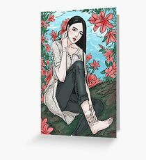 flowers & scars Greeting Card
