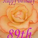 Happy 89th Birthday Flower by martinspixs