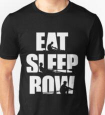 Eat Sleep Row T Shirt - Rowing Canoing Kayak Unisex T-Shirt