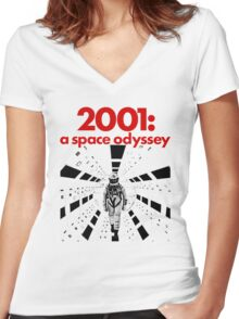 2001: A SPACE ODYSSEY Women's Fitted V-Neck T-Shirt