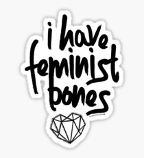 """I Have Feminist Bones"" -Gillian Anderson Sticker"