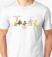 Cartoon animals playing music in a band Unisex T-Shirt