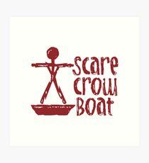 Scarecrow Boat Art Print