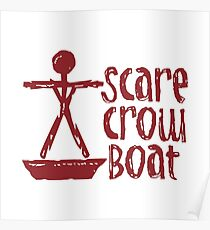 Scarecrow Boat Poster