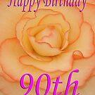 Happy 90th Birthday Flower by martinspixs