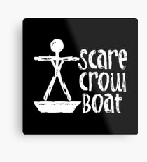 Scarecrow Boat Metal Print