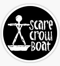 Scarecrow Boat Sticker