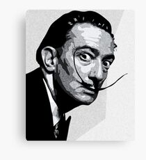 Salvador Dali Black Portrait Canvas Print