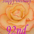 Happy 92nd Birthday Flower by martinspixs