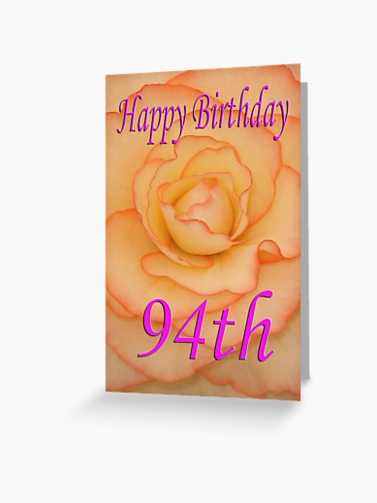 Happy 94th Birthday Flower Greeting Card